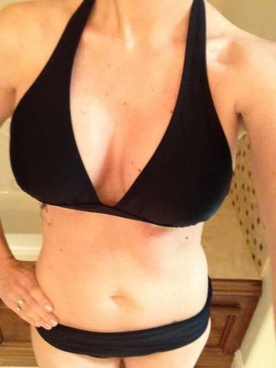 wife in bikini tube