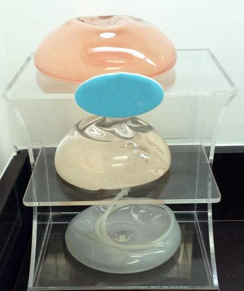 Photo of different types of breast implants